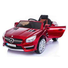 Акумулаторна кола Mercedes Benz  SL63 AMG, 12V с кожена седалка