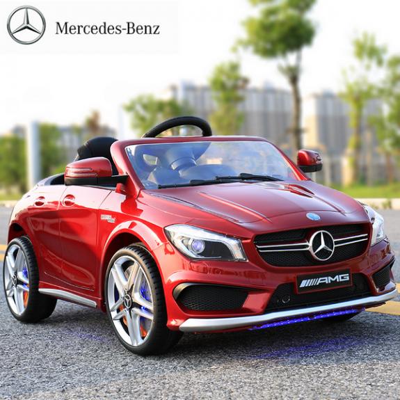 Продукт Акумулаторна кола Mercedes Benz CLA45 AMG  Wi-Fi с кожена седалка - BG Hlapeta