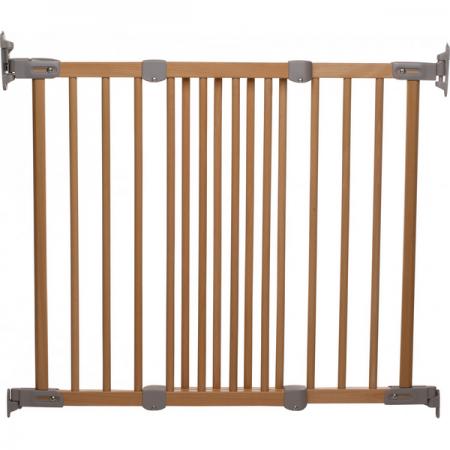 BabyDan Flexi fit Wood - Предпазна преграда