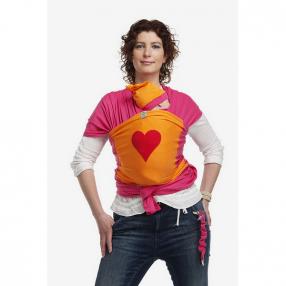 Bykay Слинг шал цвят fuchsia със сърце