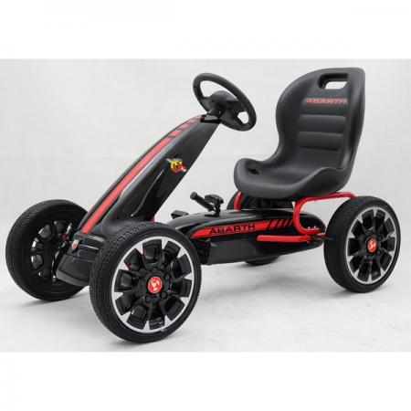 Картинг Abarth Pedal Go Kart с меки гуми, лицензиран модел
