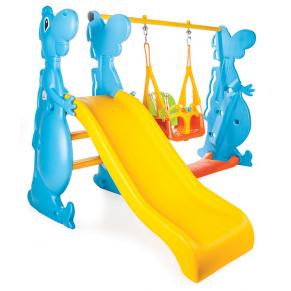 Pilsan  Dino - Детска пързалка с люлка