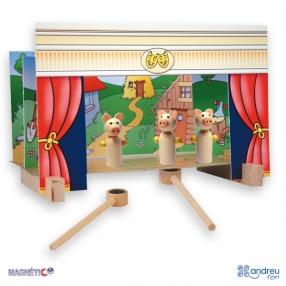 Andreu toys  Куклен театър с магнити