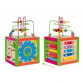 Woody Дидактически цветен куб