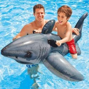 Intex Great White Shark Ride-on - Надуваема играчка Акула, 173х107см.