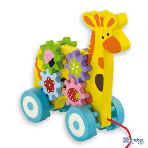Andreu Toys Жираф за дърпане