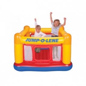 Intex Jump-O-Lene - Детски надуваем батут Къща, 174х174х112см.
