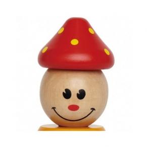 Hape - Дървена играчка Клоун с цветни рингове