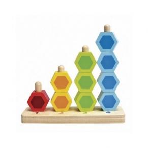 Hape - Дървена игра с цветни форми за броене