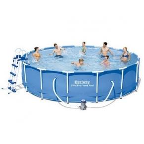 Bestway - Сглобяем басейн с помпа, покривало и стълба 457x107 см.