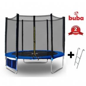 Buba - Детски батут 244 см с мрежа и стълба