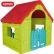 Keter Wonderfold - сгъваема пластмасова къща за игра зелено/червено/синьо 1