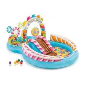 INTEX Candy Zone - Надуваем център за игра с пързалка Бонбонландия
