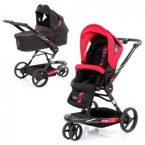 ABC Design 3 Tec Plus 2в1 - Бебешка количка с кош за новородено и адаптори