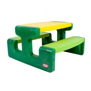 Little Tikes - Голяма маса за пикник жълто и зелено