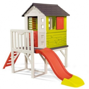 Smoby - Къща с веранда и пързалка  260 х 160 х 197 см.