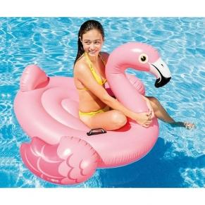 Intex Flamingo Ride-on - Надуваема играчка Розово фламинго, 142х137х97см.