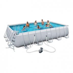 Bestway Power Steel - Сглобяем басейн с помпа, подложка и покривало 671х366x132см