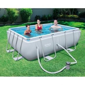 Bestway POWER STEEL  - Сглобяем басейн с помпа 282x196x84 см.