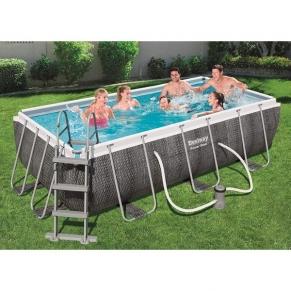 Bestway - Сглобяем басейн с рамка правоъгълен, 412 cm x 201 cm x 122 cm