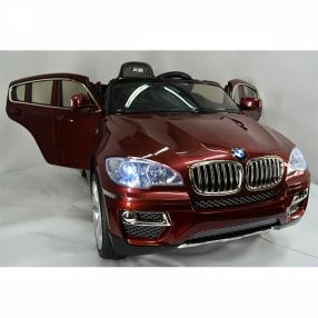 Акумулаторен джип BMW X6 12V Wi Fi с меки гуми и кожена седалка