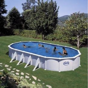 GRE ATLANTIC - Сглобяем басейн с метална стена , овал, 1000 X 550 h 132см.