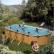 GRE - Сглобяем басейн овален с метална стена имитираща дърво 730х375x120см 1