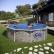GRE CERDENA - Сглобяем басейн с метална стена , кръг, имитация на камък, ф460 h 120см. 1