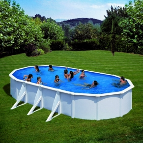 GRE FIJI - Сглобяем басейн с метална стена ,овал, 730 x 375 h 120см.