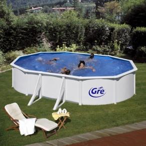 GRE FIJI - Сглобяем басейн с метална стена ,овал, 610 x 375 h 120см.