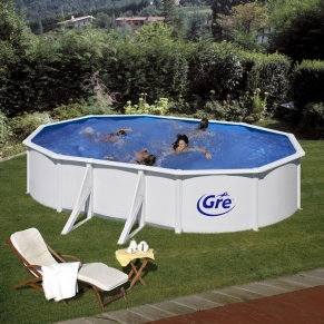 GRE FIJI - Сглобяем басейн с метална стена ,овал, 500 x 300 h 120см.