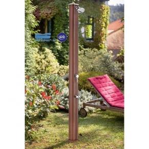 GRE - Алуминиев соларен душ , имитация на дърво, вместимост 35л.