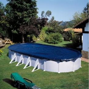 Gre - Зимно покривало за овален басейн 730 x 375 - 100 g/m
