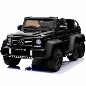 Двуместен акумулаторен джип Mercedes G63 6X6, 2X12V, MP4 (Видео) с меки гуми и 2 кожени седалки, 2019 година