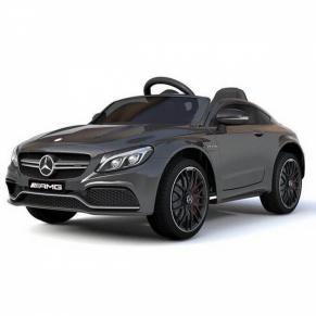Акумулаторна кола Mercedes Benz C63,12V с кожена седалка и меки гуми
