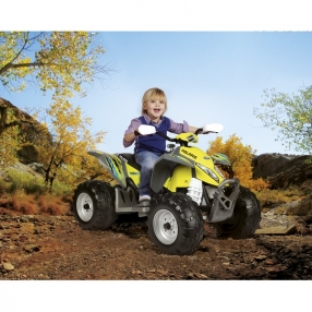 Peg Perego POLARIS OUTLAW CITRUS - Акумулаторно бъги, 12V