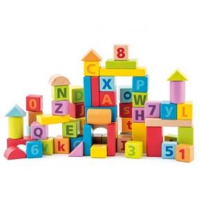 Woody - Дървен конструктор с цифри и букви