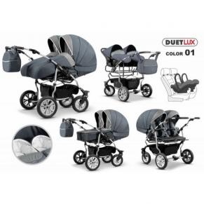 Mikado Duet Lux 3в1 - Детска количка за близнаци