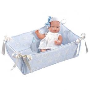 Asi - Кукла-бебе Оли в синьо кошче