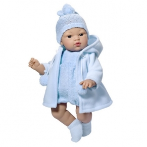 Asi - Кукла-бебе Коке със синьо гащеризонче и плато