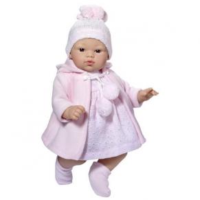 Asi - Кукла-бебе Коке с розова плетена рокличка и шапка