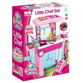 Buba Little Chef- Детска кухня Куфар, Розова