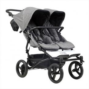 Mountain Buggy Duet Luxury Collection - Количка за бизнаци с чанта за количка и халки за прикрепяне
