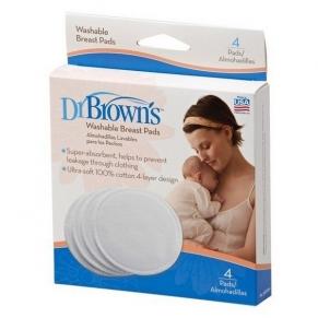 Dr.Brown's - Подплънки за кърмачки за многократна употреба 4 бр.