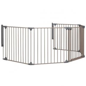 Safety 1st - Модулна метална преграда-5 модула за отвори 82-358см, сива