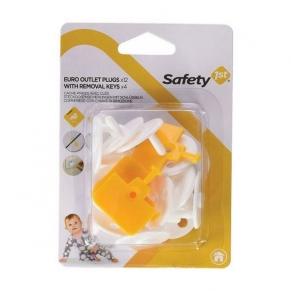 Safety 1st - Предпазители за контакт с ключ за премахване (12+4бр./оп.)