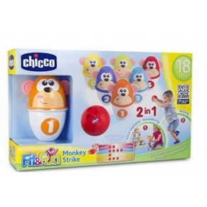 Chicco Маймунки - Детска игра боулинг