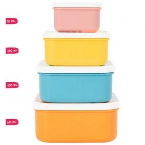Badabulle - Комплект кутии за храна, 4 броя