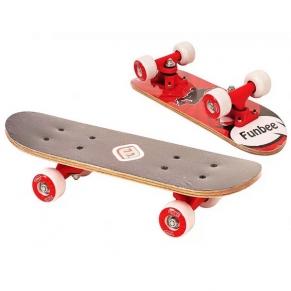 D'Arpeje FUNBEE - Детски мини скейтборд, червен