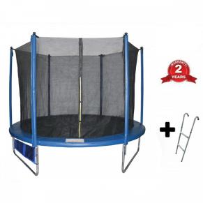 Buba - Детски батут с вътрешна мрежа и стълба (244 см)